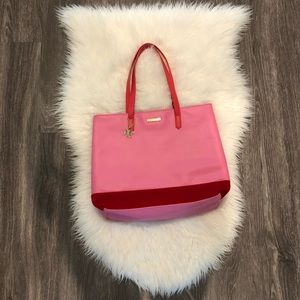 🌾HP🌾Juicy Couture Pink PVC Tote w/Suede Bottom